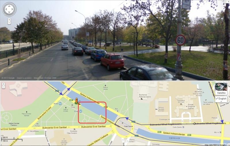 Google Maps face mișto de români ștergând porțiuni de drum